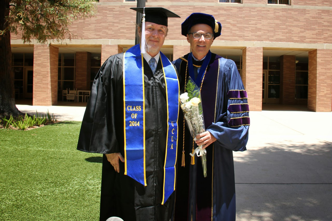 Professor Robert Gurval of UCLA Department of Classics with 2014 Winter Quarter Graduate Robert D. Skeels