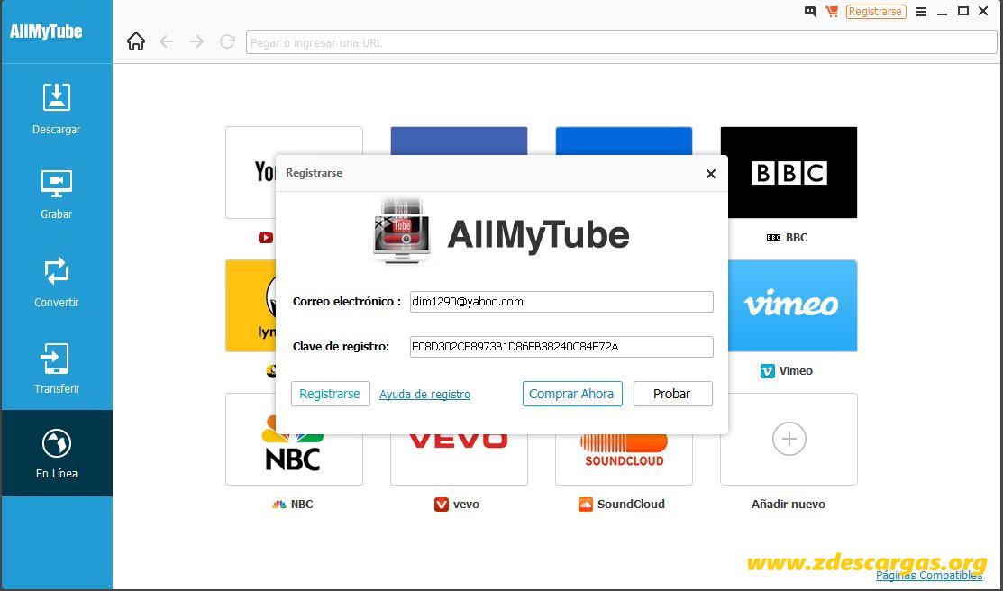 Wondershare AllMyTube Full Español