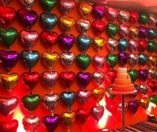 Balão de Coração Colorido