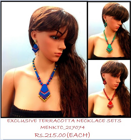Terracotta Necklace sets has tribal flavor of the products very enchanting