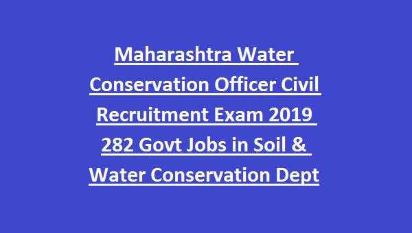 MPSC Maharashtra Water Conservation Officer Civil