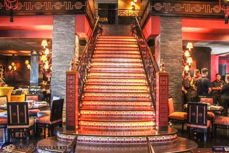 Grand staircase of Buddha Bar Manila