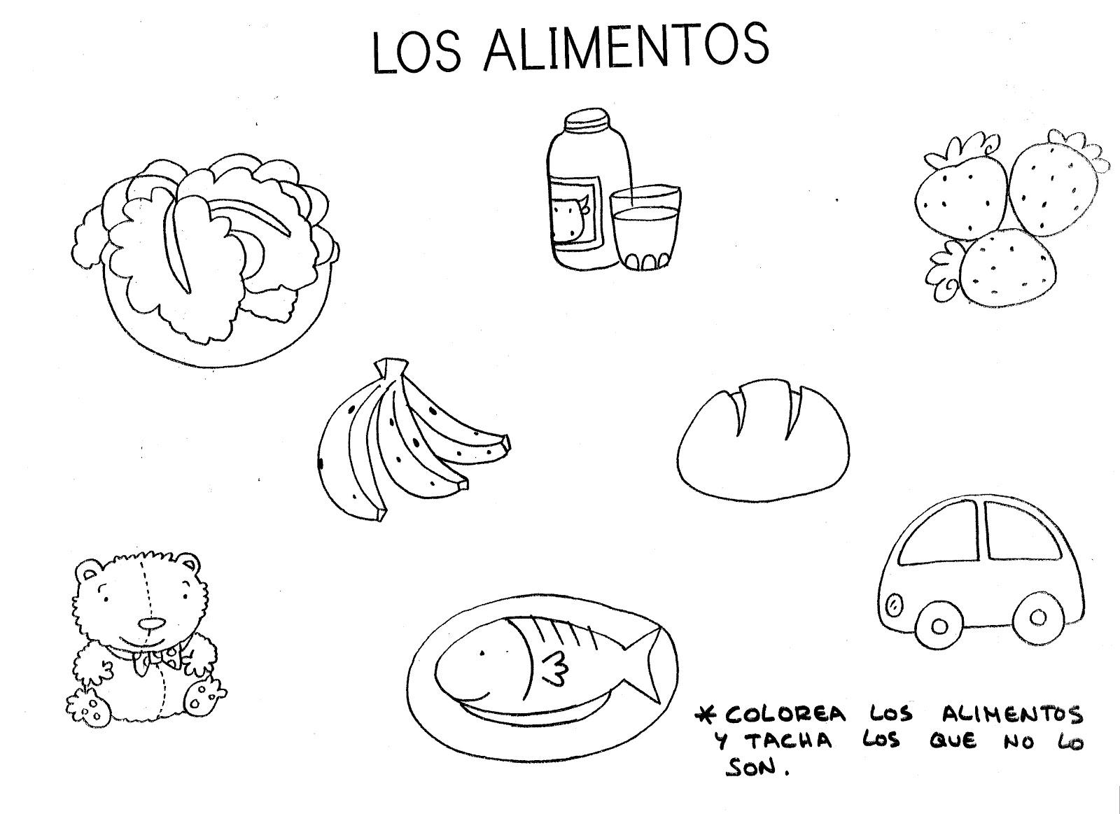 Fichas De Alimentos Nutritivos Imagui
