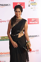 Sindhu looks fabulous in Black Saree designer choli at Mirchi Music Awards South 2017 ~  Exclusive Celebrities Galleries 066.JPG