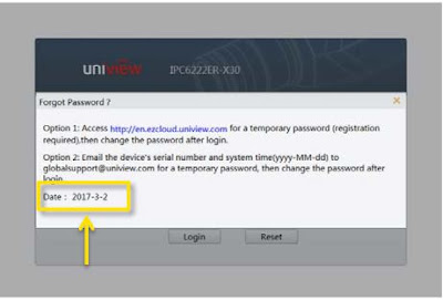 Uniview CCTV Password Reset