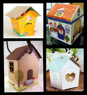 Caja con Forma de Casa de Lluvia de Bendiciones para Nena para Imprimir Gratis.