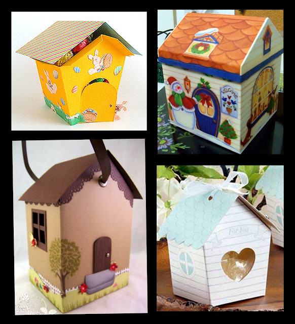House shapped Free Printable Box.