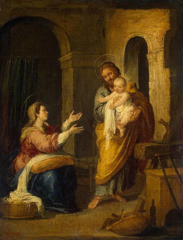 Holy Family by Bartolome Esteban Murillo - Christianity, Religious Paintings from Hermitage Museum