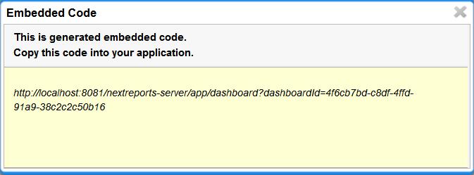 NextReports Blog: NextReports Server: Dashboard Embedded Code