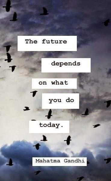 Mahatma Gandhi Motivational Quote Poster
