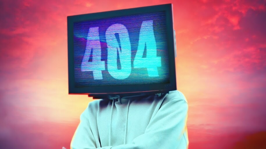404, Screen, Monitor, Digital Art, 4K, #4.3047