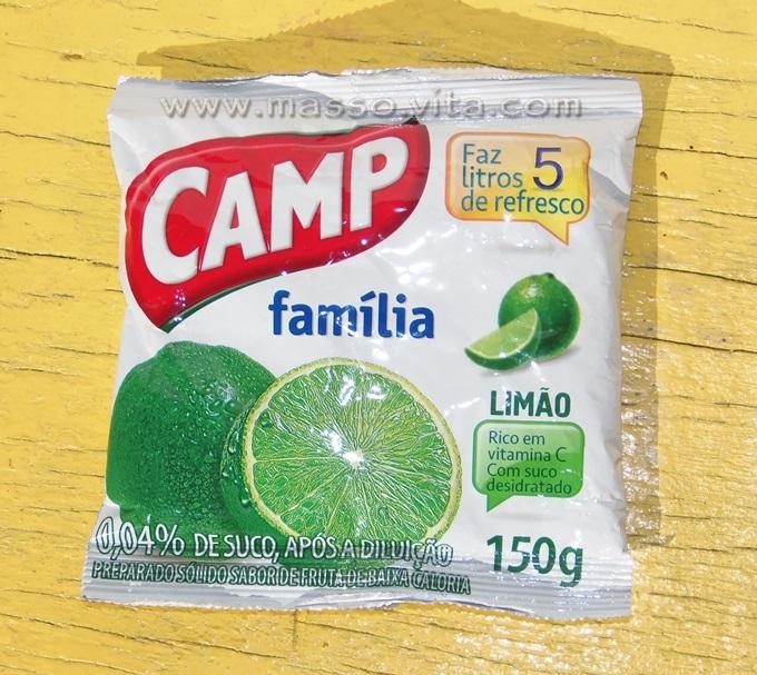 Refresco em pó Camp Família Limão