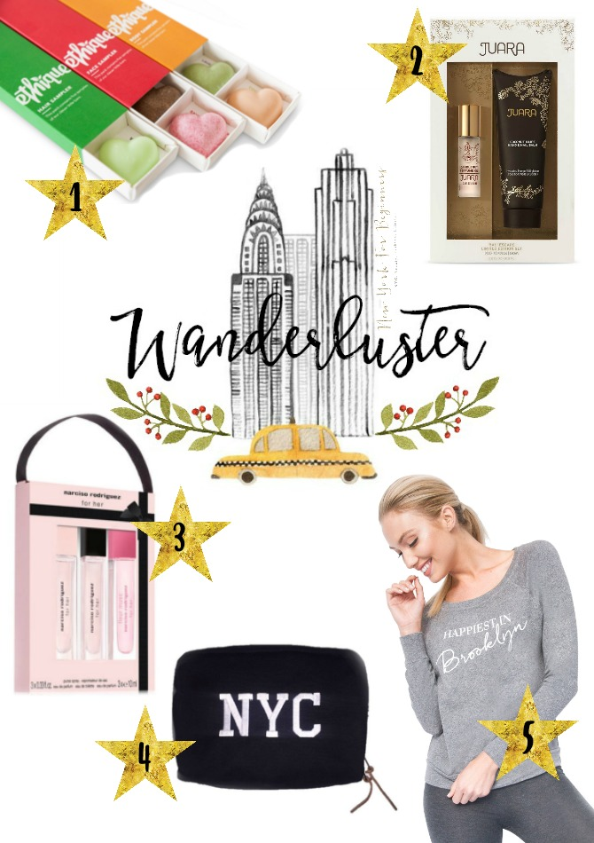 Wanderluster is a holiday gift guide with gift ideas for travelers