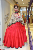Anya South Actress model in Red Anarkali Dress at Splurge   Divalicious curtain raiser ~ Exclusive Celebrities Galleries 023.JPG