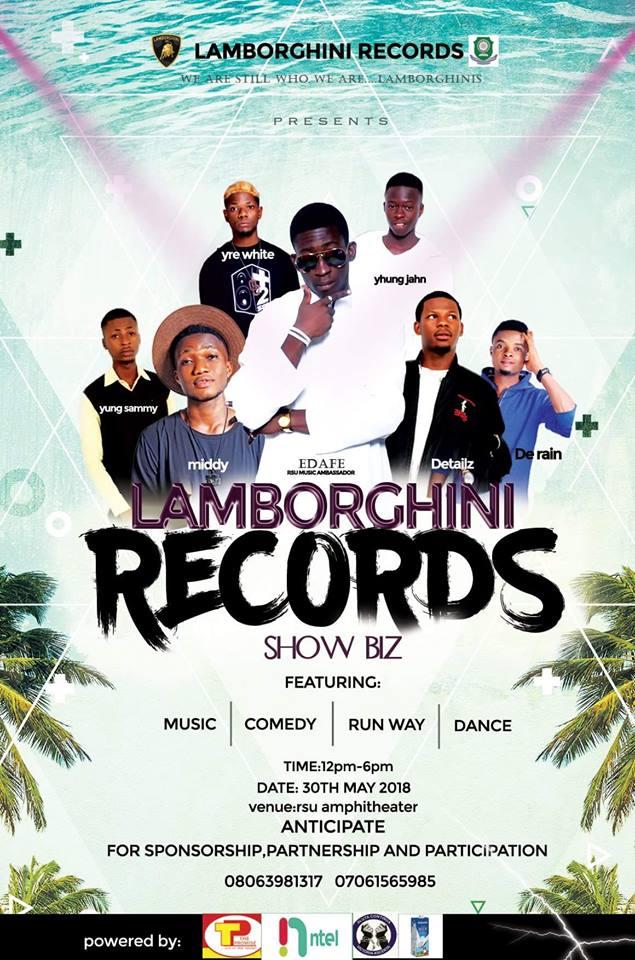 LAMBORGHINI RECORDS IS ON IT AGAIN.