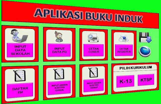Unduh Buku Induk Siswa Dalam Aplikasi Kurikulum 2013 dan KTSP