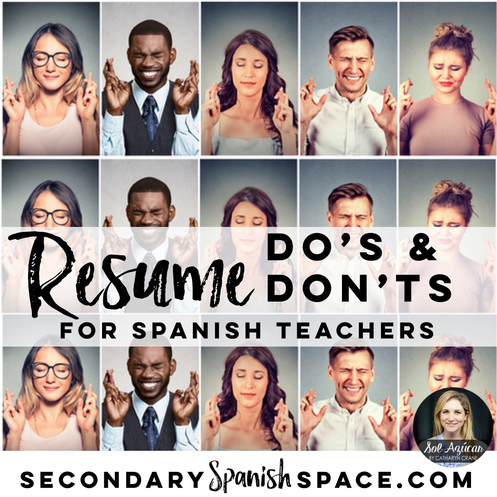 resume do s and don ts for spanish teachers secondary spanish space
