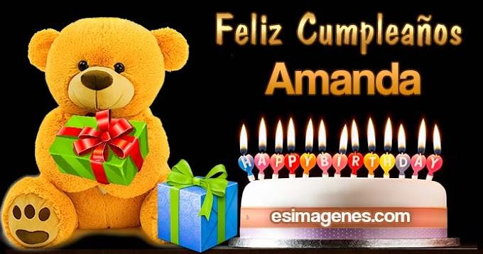 Feliz Cumpleaños Amanda