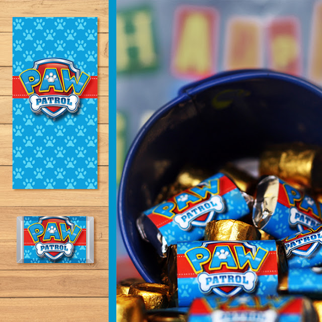 Great For Goody Bags Or Grab And Go Party Decorations See The Whole Set Of Paw Patrol Printables Dark