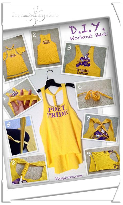 Camisetas Customizadas - Modelos de Cortes Criativos ... 9ad06ab7690