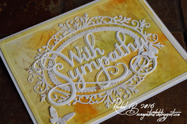 Scrapatout - Handmade card, Sympathy, Impression Obsession stamps and dies