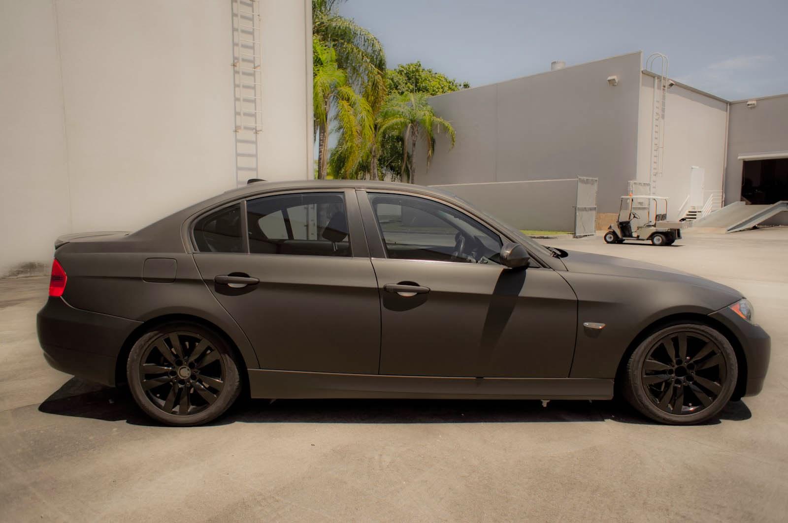 Bmw 3 Series Matte Black Car Wrap Boca Raton Florida 3m Preferred