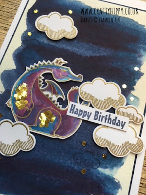 Make a dragon card: Magical Day stamp set Stampin' Up!