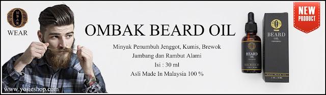 Ombak Beard Oil Minyak Ampuh Penumbuh Jenggot Penumbuh Kumis dan Penumbuh Brewok