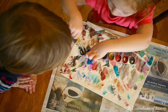 Rainy Day Fun | Watercolors| by CustodiansofBeauty.blogspot.com