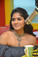 Mega Akash in a sleeveless Off Shoulder Cute Dress Stunnign beauty at Radio Mirchi Promoting Movie LIE ~ Celebrities Galleries 046.JPG
