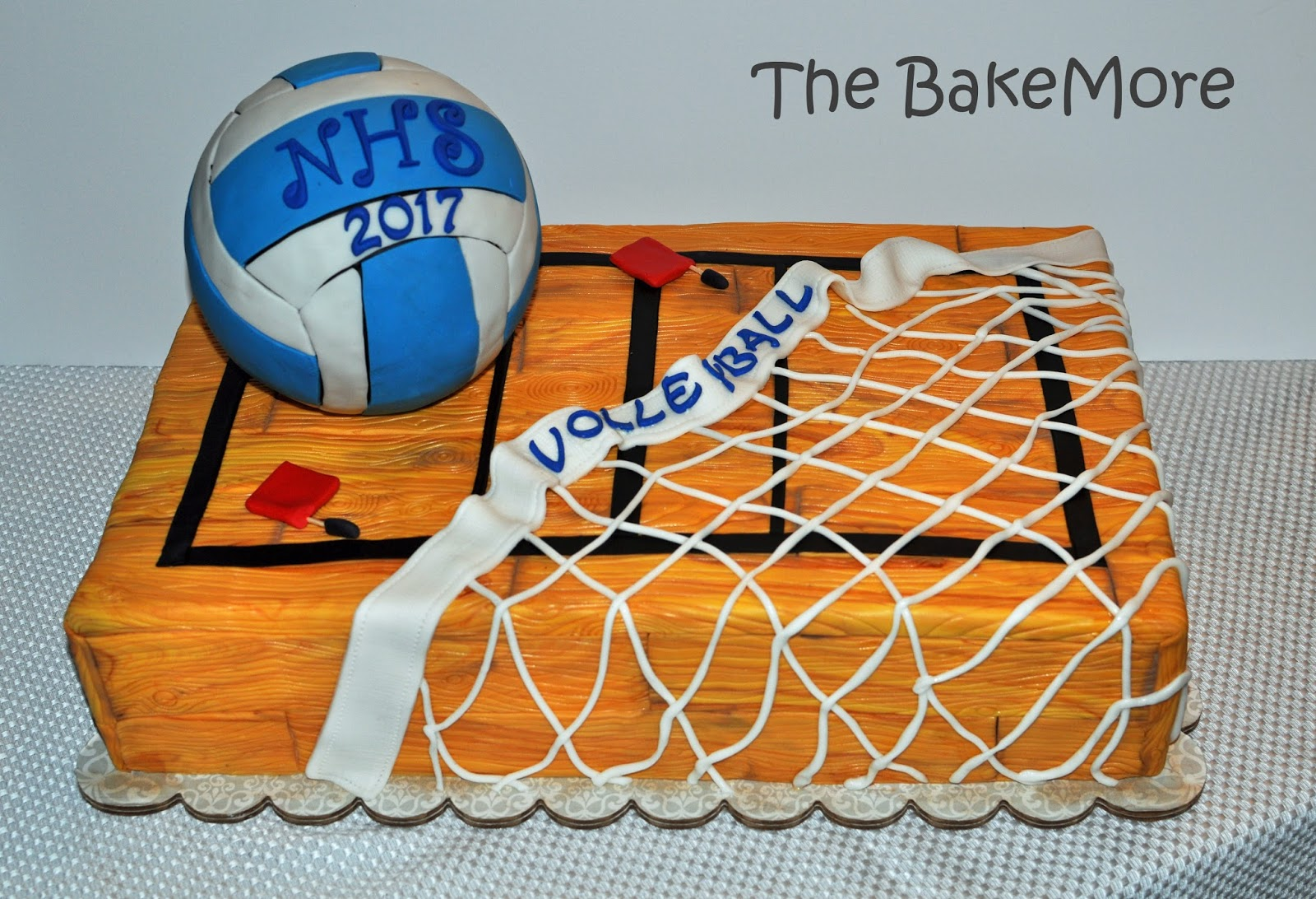 Slutty Volleyball Delightful the bake more: volleyball court cake