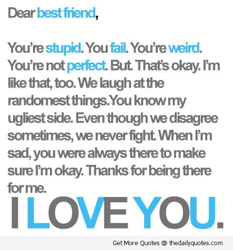 Love u my best friend quotes