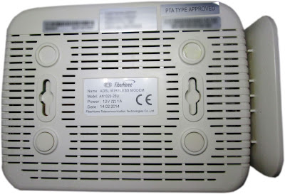 PTCL FiberHome AN1020-25U DSL Modem Back Side