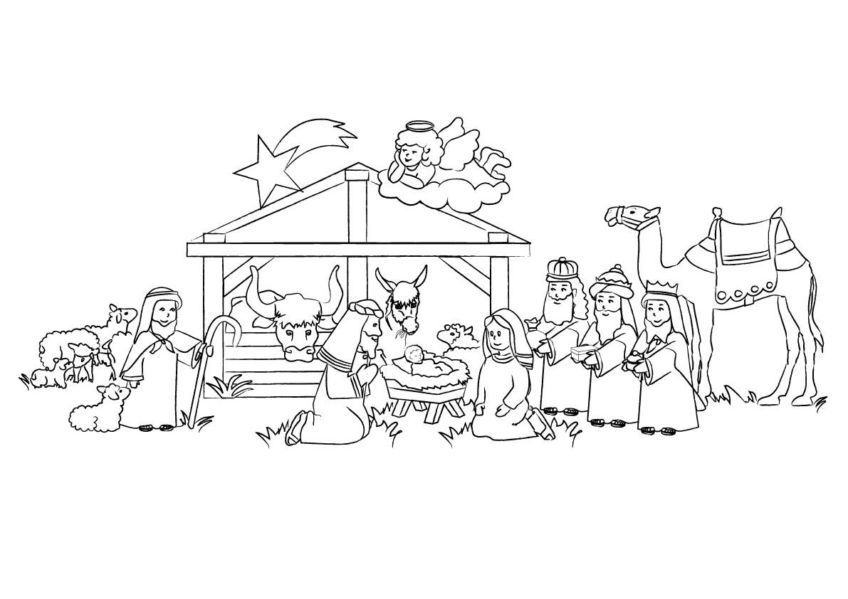 Asombroso Páginas Para Colorear De La Natividad Galería - Enmarcado ...