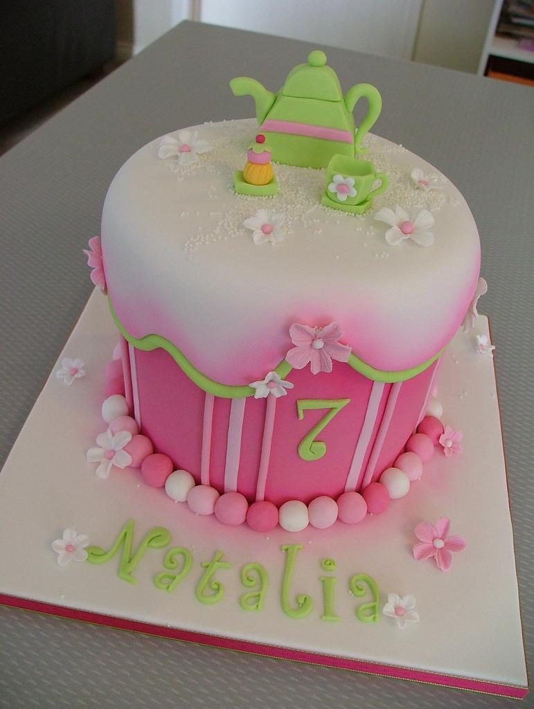 Ladies Cakes Womens Birthday Cake Party Fondant Pic 14