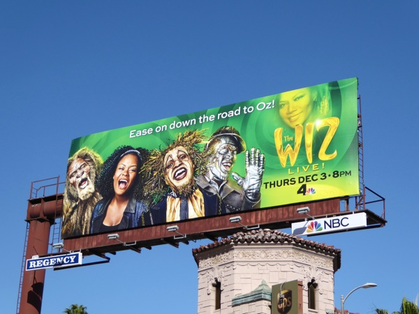 The Wiz Live! NBC billboard