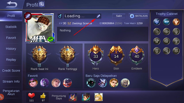 Cara Mengganti Nama Mobile Legends Menjadi Keren 19