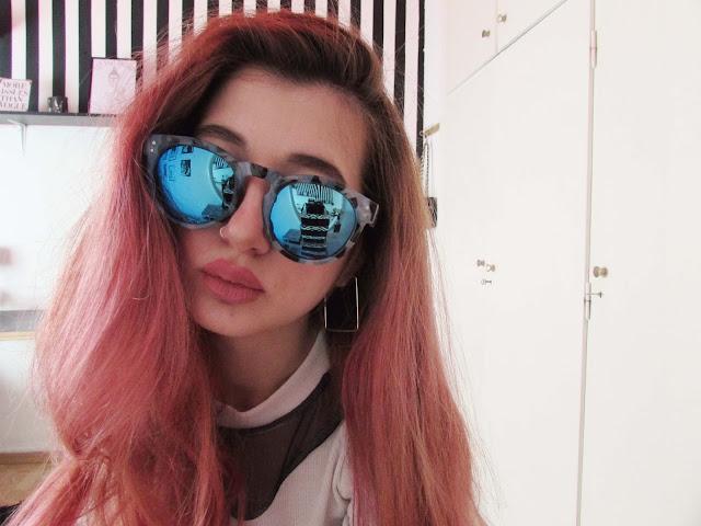 pink hair pastel