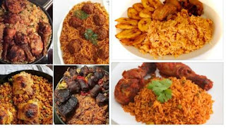 Jollof rice is best served with dodo, chicken, beef, moinmoin or egg