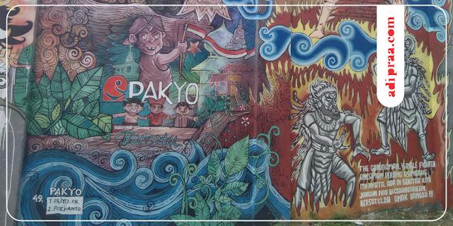 Mural Pancasila di Stadion Kridosono | adipraa.com
