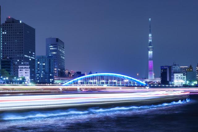 東京スカイツリー特別ライティング「舞」~中央大橋