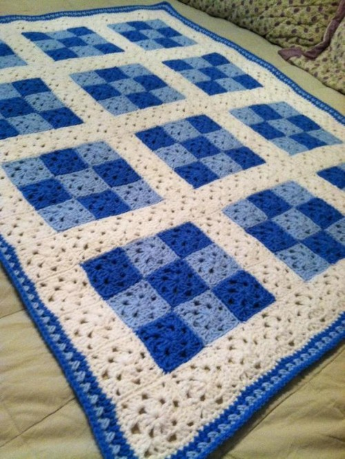 Nine Patch Baby Blanket for Boy