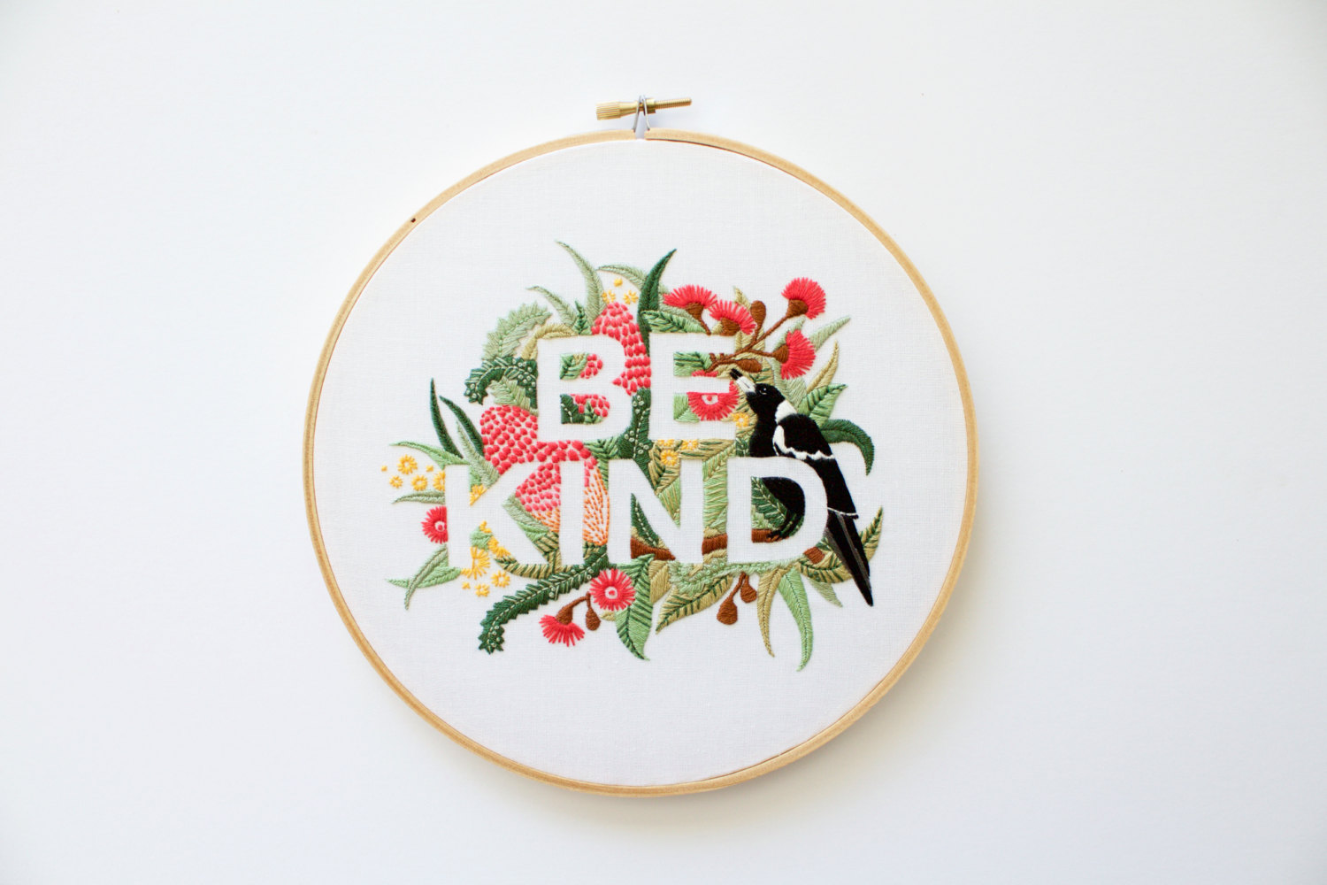 Be Kind Embroidery Pattern by Threadfolk on Etsy