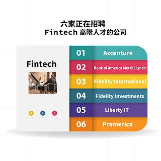 六家國際上正在招聘Fintech高階人才的公司
