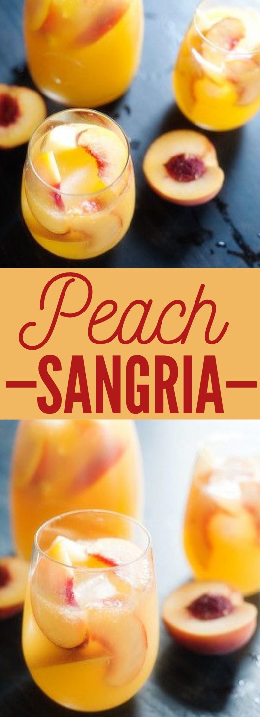 PEACH SANGRIA #sangria #icedrink
