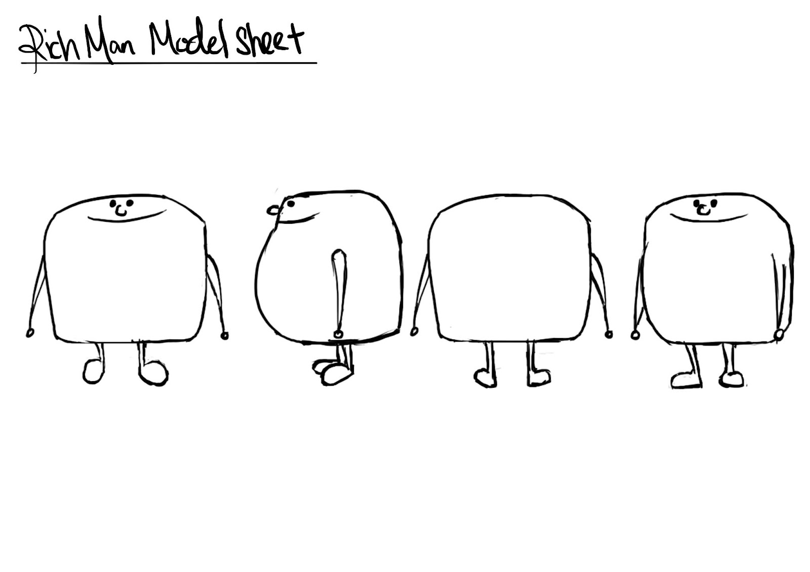 Studio Project Online Production Journal: Model sheet and