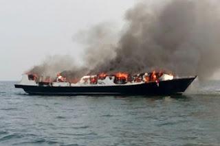 Kebakaran Kapal Zahro Ekspress, 20 orang Korban Ditemukan Hancur dan beberapa lainnya mengalami Luka Bakar di atas 90%  - Commando