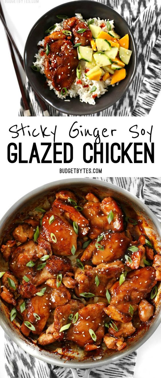 STICKY GINGER SOY GLAZED CHICKEN