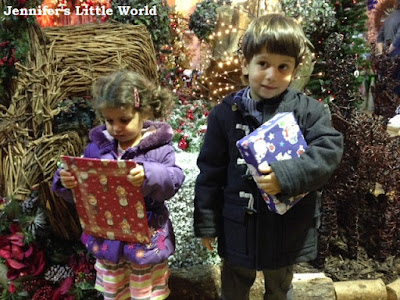 Visiting Father Christmas at Squire's Garden Centre, Washington