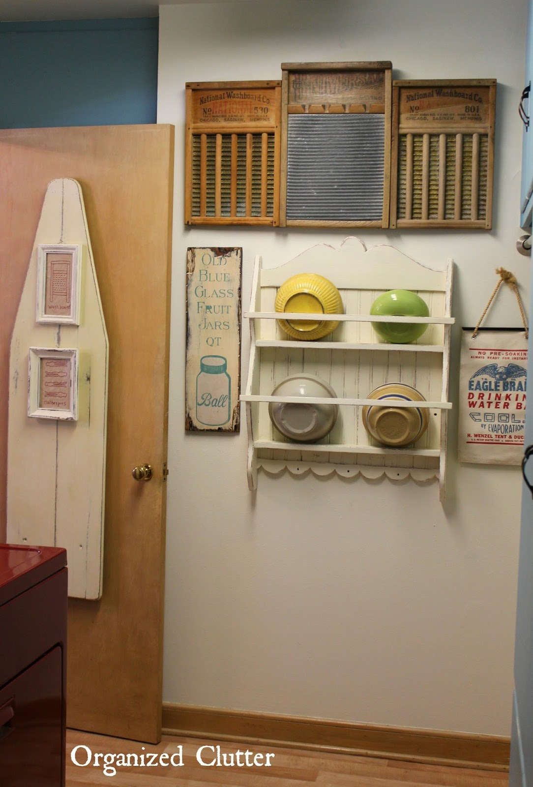 Vintage Laundry Room Mini Makeover | Organized Clutter on Laundry Decoration  id=17564
